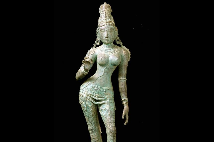 Among ACM's purchases from Subhash Kapoor's gallery is an 11th-century bronze sculpture of Hindu goddess Uma Parameshvari. Kapoor is accused of smuggling more than US$100 million (S$126 million) in antiquities. -- PHOTOS: ACM, ST FILE