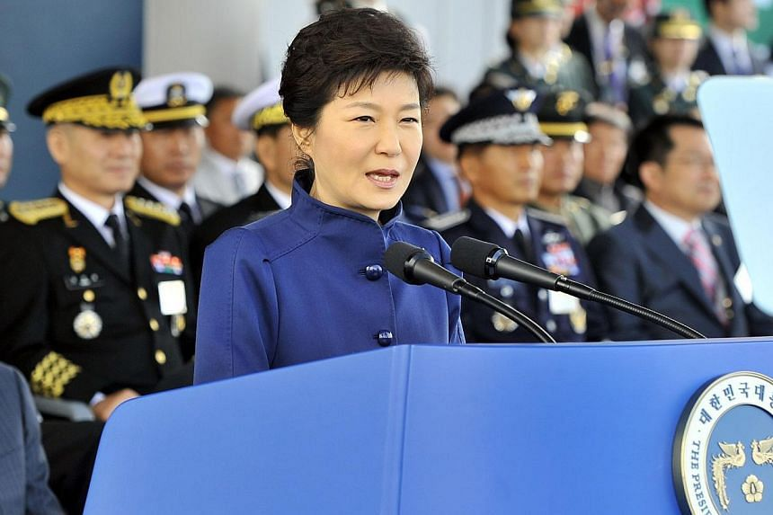 """South Korean President Park Geun Hye warned on Monday of possible """"reckless provocations"""" by North Korea after the shock execution of leader Kim Jong Un's uncle, calling for the military to step up vigilance. -- FILE PHOTO: AFP"""