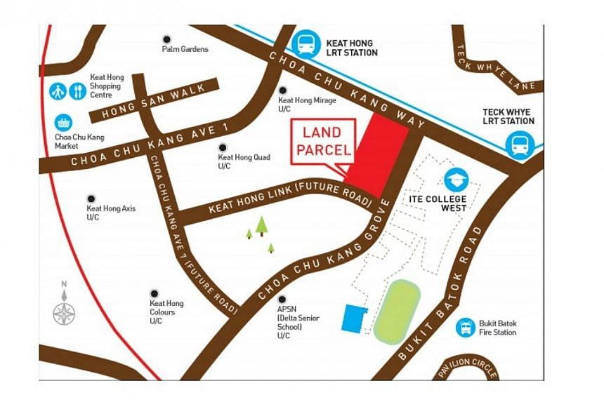 Location Plan for Land Parcel at Choa Chu Kang Grove (Parcel A). -- PHOTO:  HOUSING DEVELOPMENT BOARD
