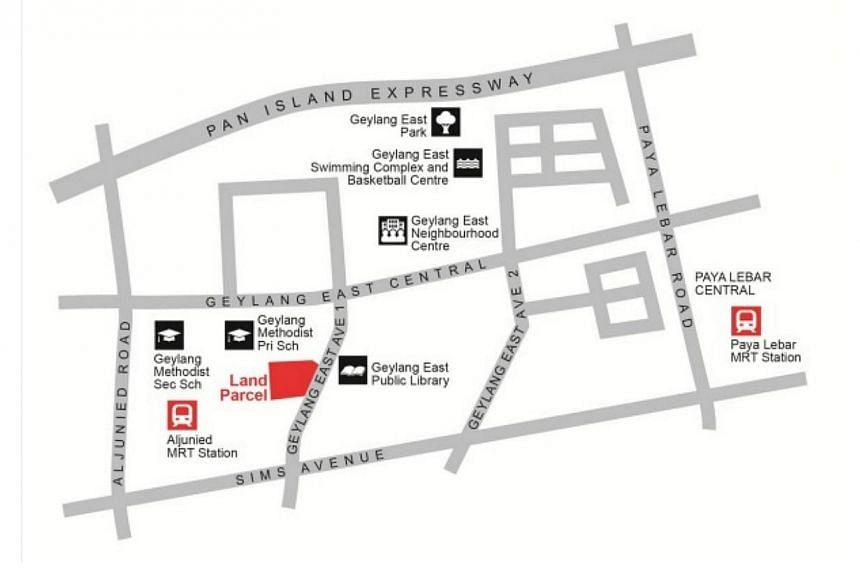 Location Plan for Land Parcel at Geylang East Avenue 1. -- PHOTO:HOUSING DEVELOPMENT BOARD