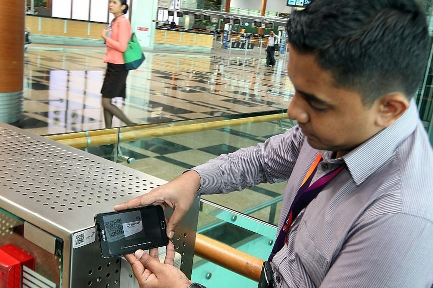 Senior Associate of Facility Haja Najubudeen utilising the E-inspection system. Changi Airport has made great gains in productivity and service standards, three years after it launched a feedback system allowing visitors to rate its staff and facilit