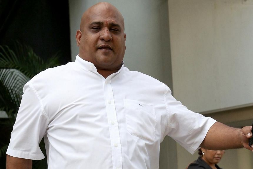 Pannirchelvam S/O Ramachandra is accused of throwing bowl at waiter and insulting waitress. A human resource manager was fined $1,000 on Monday, Dec 16, 2013, for insulting the modesty of a waitress by pointing at her breast and asking if his coffee