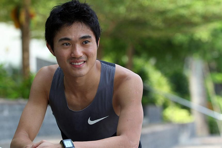 Mok Ying Ren has emerged victorious in the SEA Games men's marathon on Monday - becoming the first Singaporean man to do so. -- ST FILE PHOTO: LAU FOOK KONG