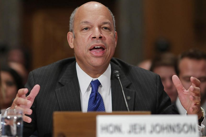 Mr Jeh Johnson testifying before the Senate Homeland Security and Governmental Affairs Committee during his confirmation hearing on Capitol Hill in November 2013 in Washington, DC. The US Senate on Monday, Dec 16, 2013, easily confirmed the for