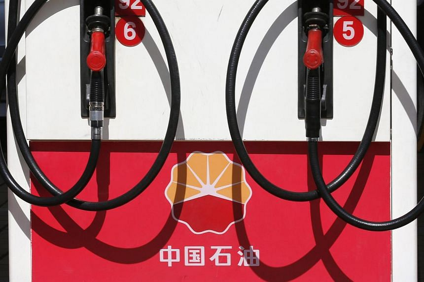 A PetroChina logo is seen at its gas station in Beijing in this August 29, 2013 file photo. -- FILE PHOTO: REUTERS