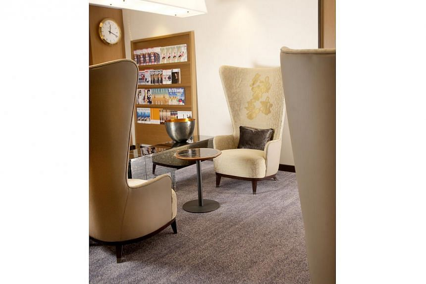 Singapore Airlines (SIA) unveiled its new-look lounge in Sydney on Dec 17, 2013. SIA will spend $100 million to revamp its airport lounges around the world in a bid to maintain its edge in an increasingly competitive field. -- PHOTO: SIA