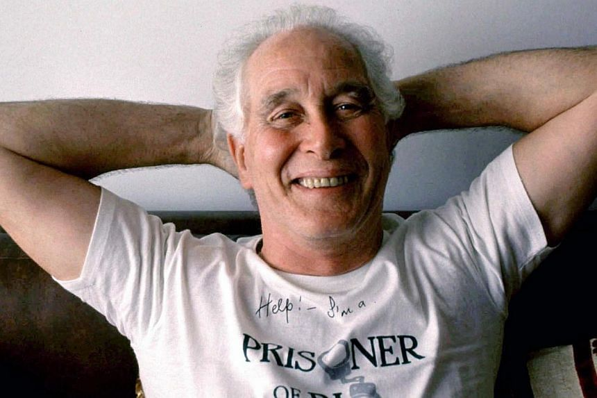 Great Train Robber Ronnie Biggs is seen posing for a photograph in Brazil on Sept, 1992.Biggs, whose escape from jail and decades spent on the run made him one of Britain's most notorious criminals, died on Wednesday at the age of 84, media rep