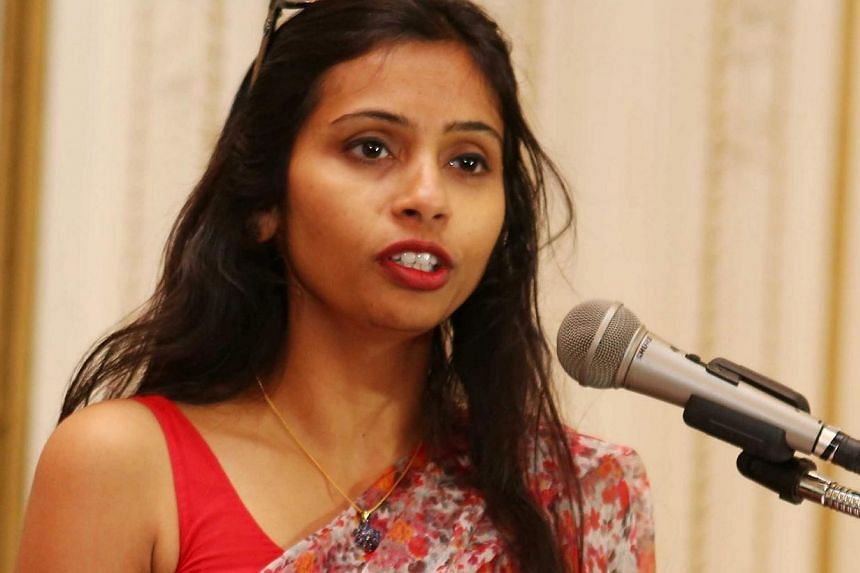 India's Deputy Consul General in New York, Devyani Khobragade, attends a Rutgers University event at India's Consulate General in New York, June 19, 2013. An Indian political party has urged the woman at the centre of a diplomatic storm in the U