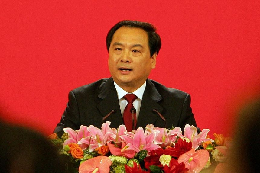 Chinese Communist Party Congress spokesman Li Dongsheng speaking at a press conference at the Great Hall of the People in Beijing on Oct 14, 2007. China's ruling Communist Party said on Dec 20, 2013 it was investigating Li, a vice police minister for