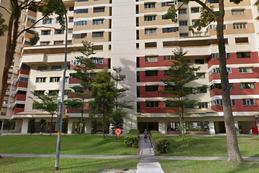 A nursing student in her 20s has been taken to the hospital after she was slashed and stabbed several times by an assailant. Police responded to a call for help made around 8.40am on Friday morning, from Block 415, Jurong Street 42 (above). -- PHOTO:
