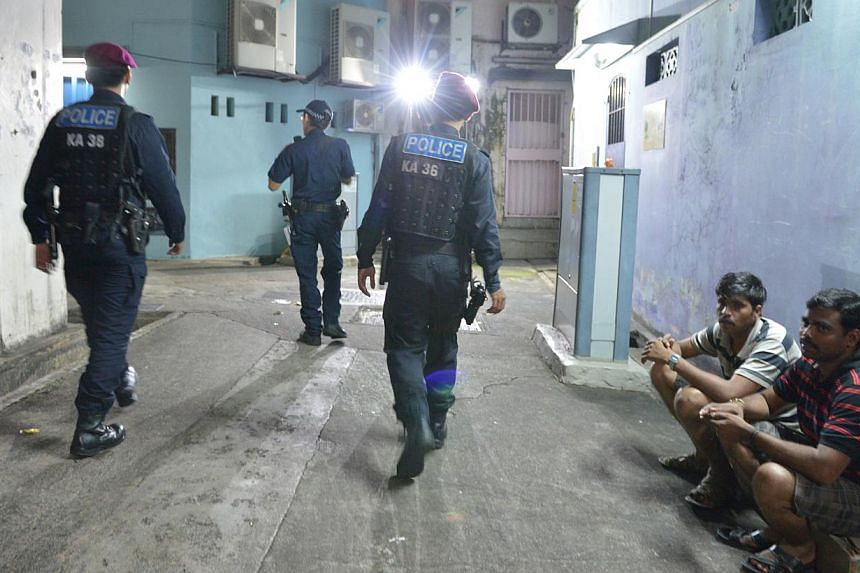 Police presence in Little India remained strong when The Sunday Times visited yesterday.