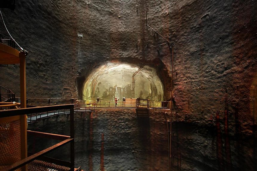 Jurong Rock Caverns (above), which is used to store petrochemicals and oils, and the catacomb of Priscilla (left) in Rome, which was used by Christians as a cemetery from the second to the fourth century, are two examples of the use of underground sp