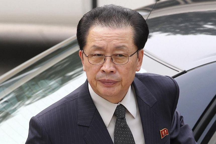 The shock purge and execution of the North Korean leader's uncle, Jang Song Thaek (above),stemmed from his attempts to take control of the country's lucrative coal export business, South Korea's spy chief told lawmakers on Monday, Dec 23, 2013.