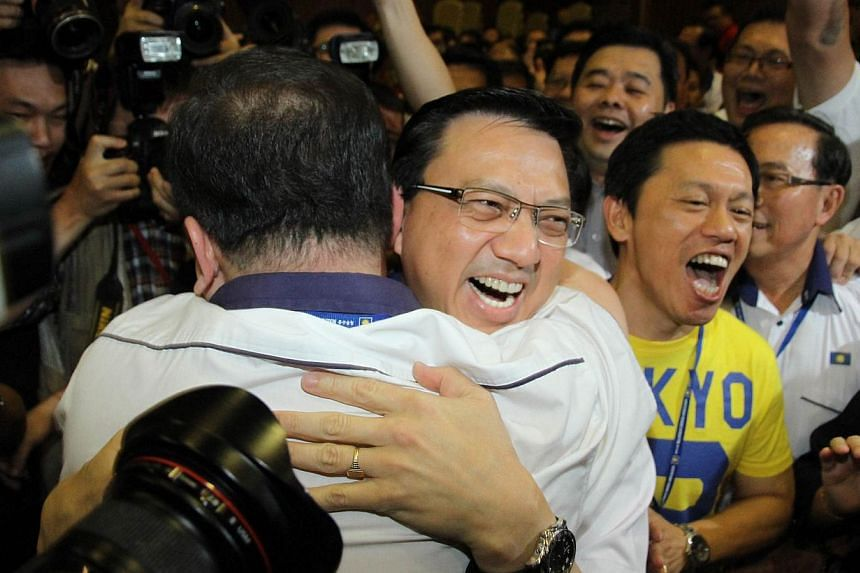 Mr Liow Tiong Lai won a tight race to the presidency of Malaysian Chinese Association (MCA) on Dec 21, 2013. -- PHOTO: SIN CHEW/ASIA NEWS NETWORK