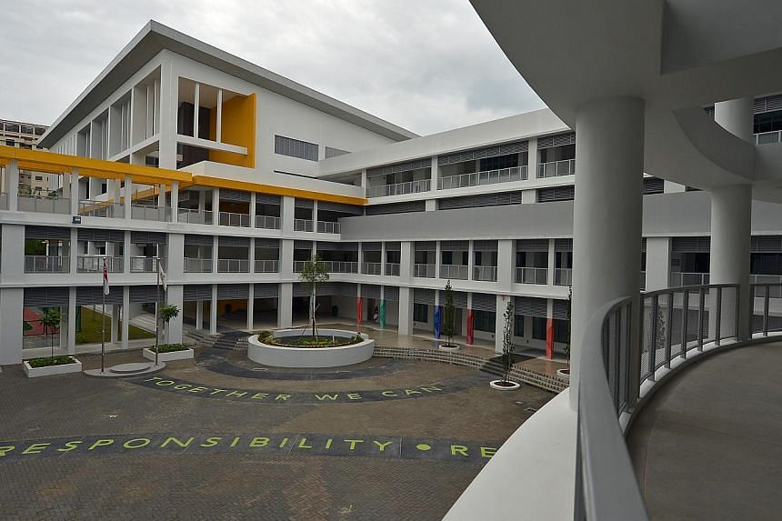 Spectra Secondary School, located in Woodlands (above) is the second school in Singapore that specialises in teaching Normal (Technical) students. -- ST PHOTO: KUA CHEE SIONG