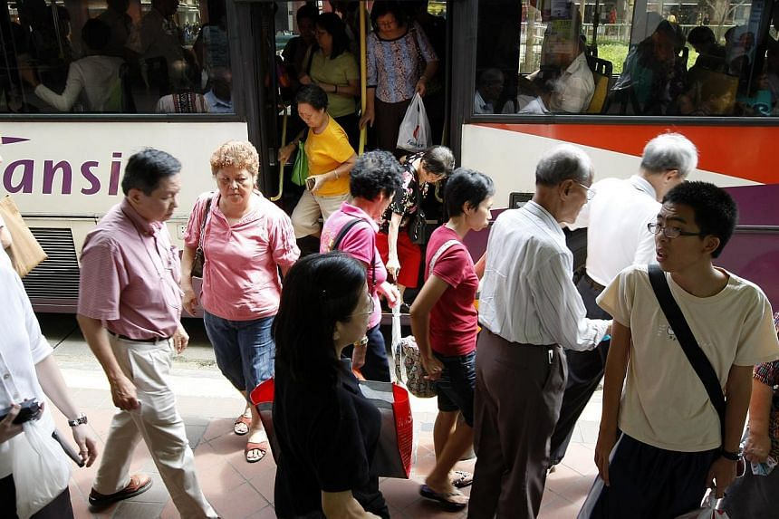 The routes of four buses run by SBS Transit will be amended from Dec 29, when the Marina Coastal Expressway opens. -- ST FILE PHOTO:YEN MENG JIIN