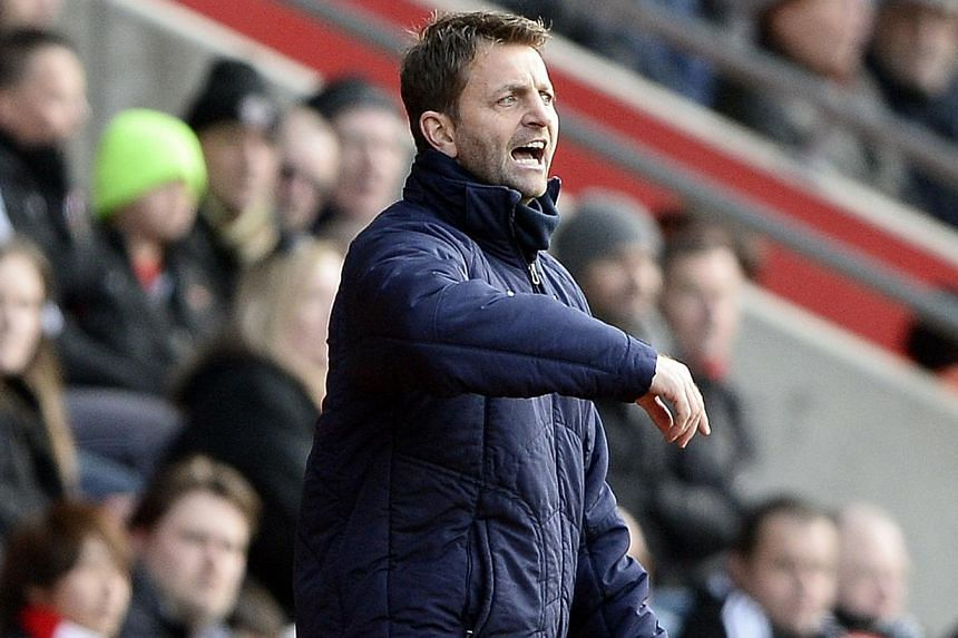 Tottenham Hotspur caretaker manager Tim Sherwood at the English Premier League soccer match against Southampton at St Mary's stadium in Southampton on Dec 22, 2013. Sherwood was on Monday, Dec 23, 2013, appointed head coach of Tottenham with a contra