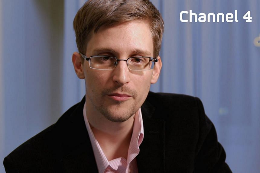 A recent, undated handout picture received from Channel 4 on Dec 24, 2013 shows US intelligence leaker Edward Snowden preparing to make his television Christmas message.Snowden, who revealed details of electronic surveillance by American and Br