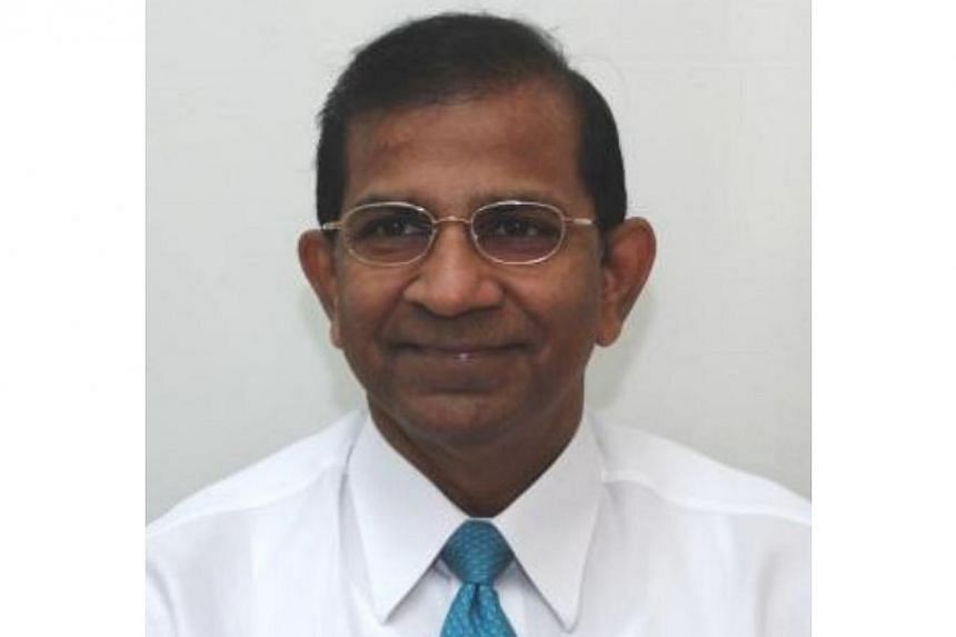 The Health Sciences Authority (HSA) will have a new chairman, Professor Satkunanantham Kandiah (above), from Jan 1. -- PHOTO: MINISTRY OF HEALTH, HEALTH SCIENCES AUTHORITY