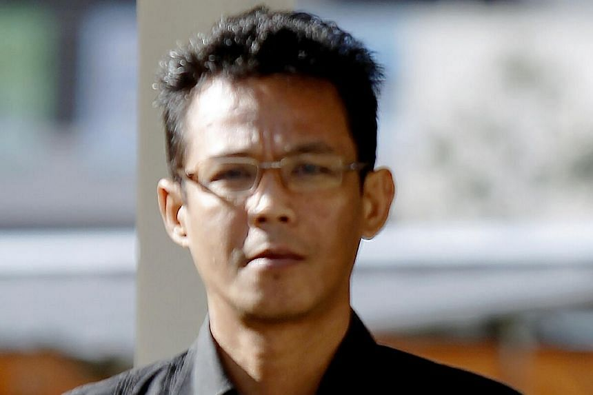 Juraimi Kamaludin, 48, accused for spitting on a woman face at Woodlands Regional lnterchange. -- ST PHOTO:WONG KWAI CHOW