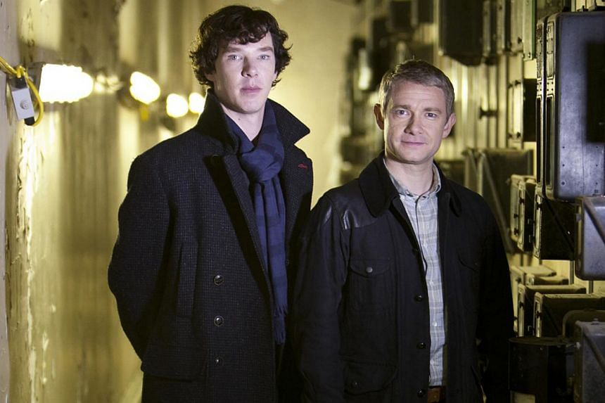 Television still from the second season of TV series Sherlock starring Benedict Cumberbatch (left) and Martin Freeman. -- FILE PHOTO: BETV