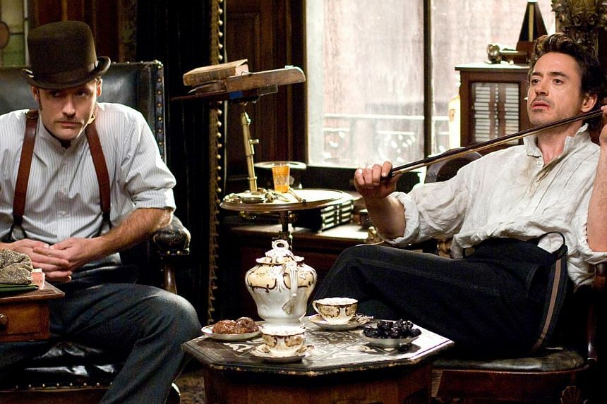 Cinema still from Sherlock Holmes starring Robert Downey Jr (right) and Jude Law. -- FILE PHOTO: GOLDEN VILLAGE PICTURES