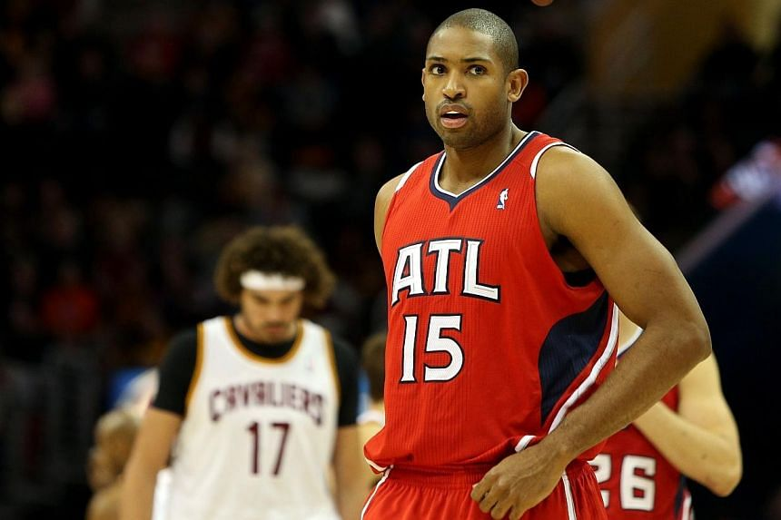 Atlanta Hawks scoring leader Al Horford will be sidelined indefinitely after suffering a torn right pectoral muscle, the National Basketball Association club announced on Friday.-- PHOTO: AFP