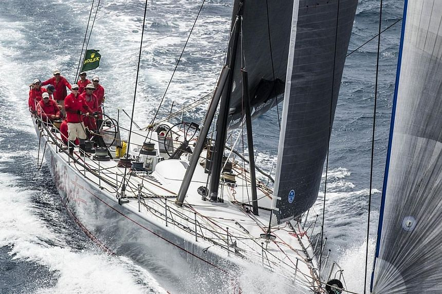 Wild Oats XI sailing on the approach to the finish line, on Dec 28, 2013. -- PHOTO: AFP/REGATTANEWS.COM