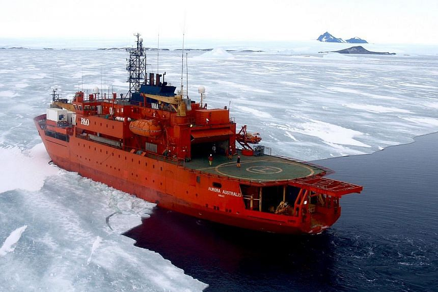 Passengers on a Russian research ship trapped in thick Antarctic ice faced an uncertain wait on Sunday for one last icebreaking attempt by resupply ship Aurora Australis (above) with no guarantees of success. -- FILE PHOTO: AFP