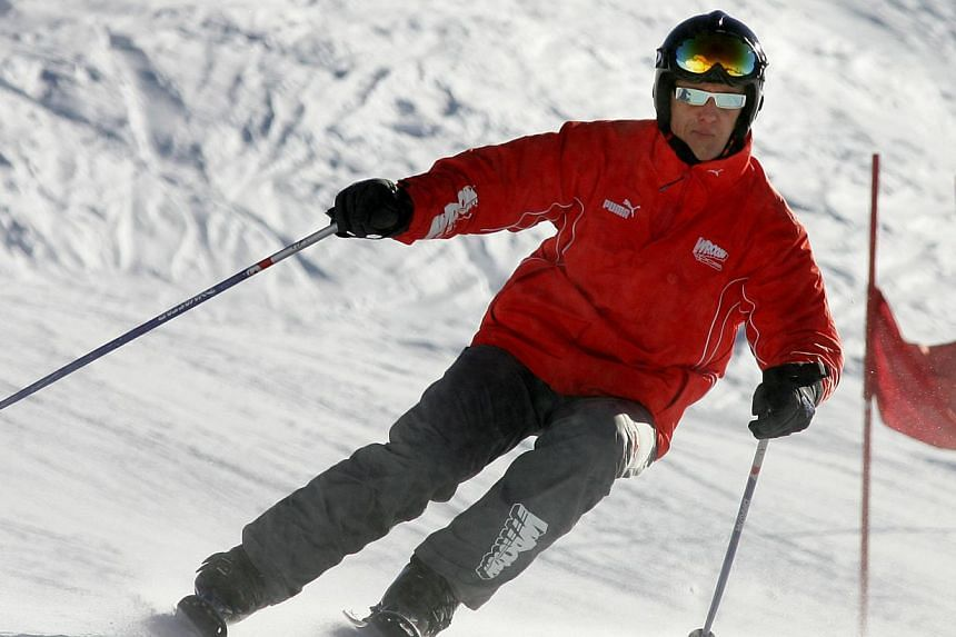 Photo dated Jan 14, 200,5 shows German former Formula One driver Michael Schumacher skiing in the northern Italian resort of Madonna di Campiglio. -- FILE PHOTO: AFP