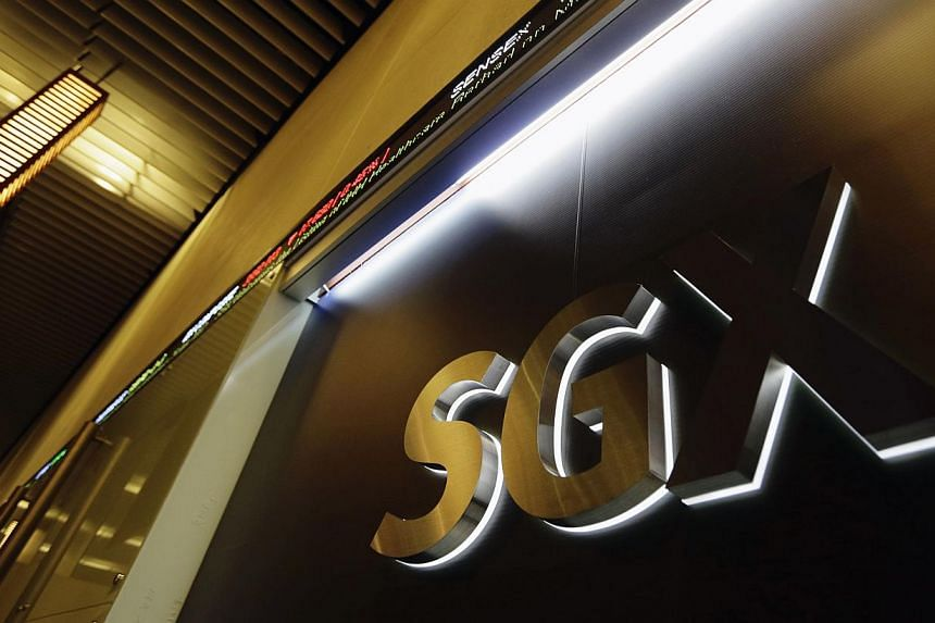 The logo of the Singapore Exchange (SGX) is pictured at its office in Singapore on July 25, 2012. Singapore stocks said farewell to 2013 on positive ground on Tuesday, Dec 31, 2013, ending the year just a tad above the level it started with. --