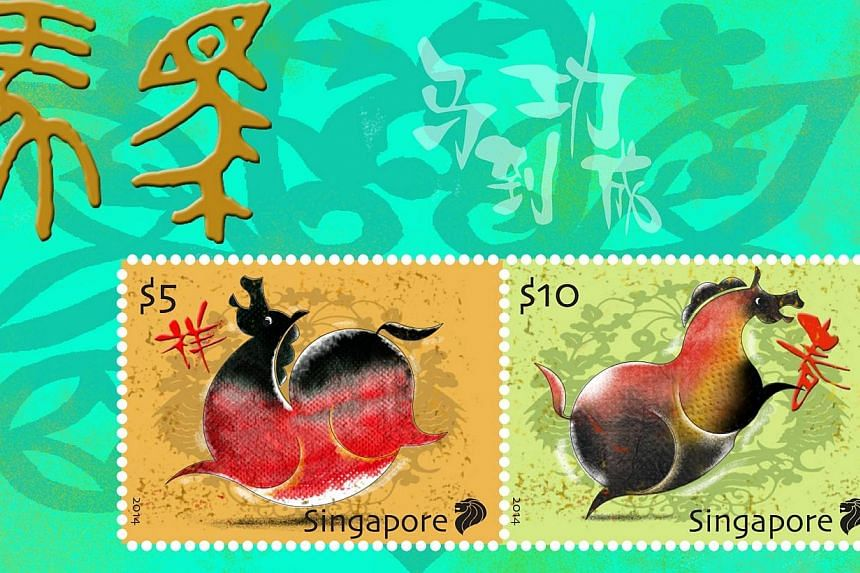 SingPost will be releasing the first stamp issue of 2014 – the Zodiac Horse stamp issue, on Jan 3, 2014. -- PHOTO:SINGPOST