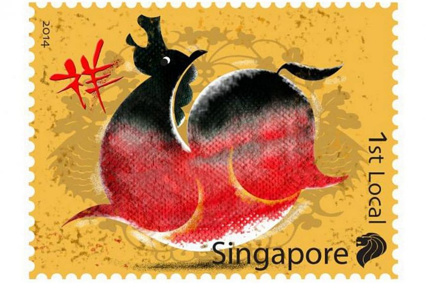 SingPost will be releasing the first stamp issue of 2014 – the Zodiac Horse stamp issue, on Jan 3, 2014. Singapore Post is releasing a set of horse stamps on Friday to usher in Chinese New Year.-- PHOTO:SINGPOST