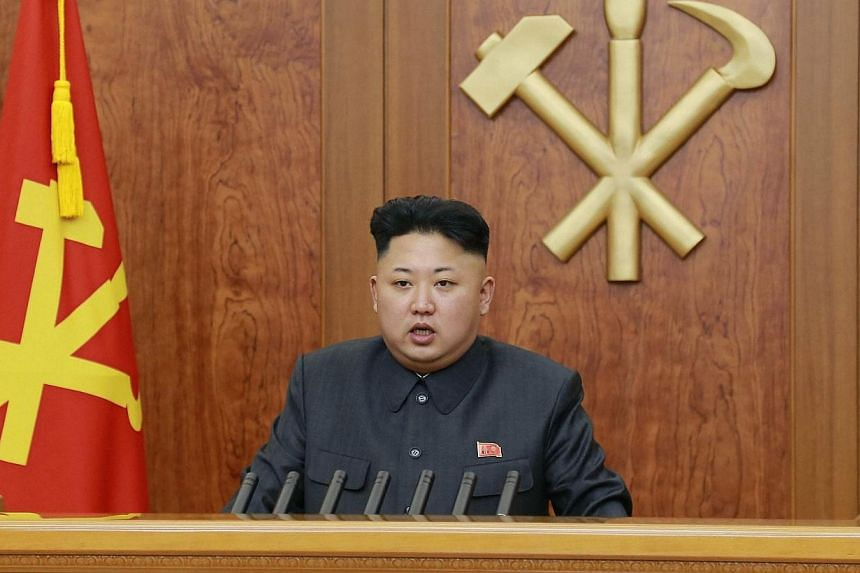 """North Korean leader Kim Jong Un delivers a speech during his New Year address, on Jan 1, 2014.Kim Jong Un on Wednesday called for the construction of """"world-class"""" structures, praising the speedy completion of his pet ski resort project. -- PHO"""