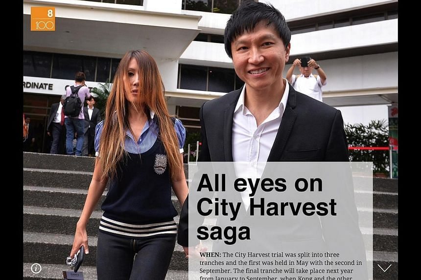 The Straits Times on Thursday launched its latest e-book, ST100, which highlights the most significant news events and trends of 2013 and looks at what 2014 has in store. -- ST PHOTO