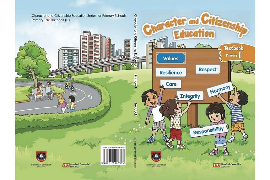 Cover of a new Character and Citizenship Education textbook launched on Jan 2, 2014. -- PHOTO: COURTESY OF THE MINISTRY OF EDUCATION