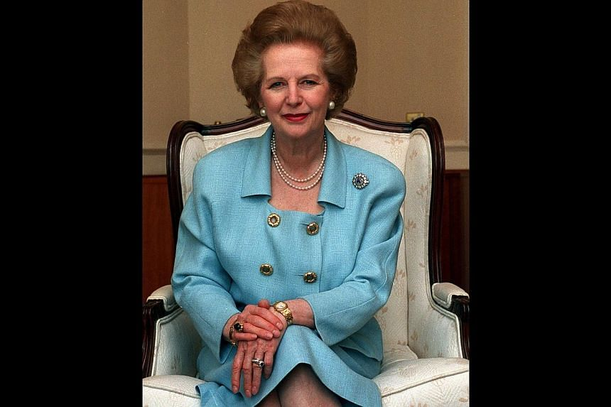 Margaret Thatcher, Britain's former Prime Minister, at Shangri-La Hotel on Sept 1, 1993. Thatcher's immaculate hairdo took intensive efforts to perfect, with the late British prime minister having her bouffant reworked every three days on averag