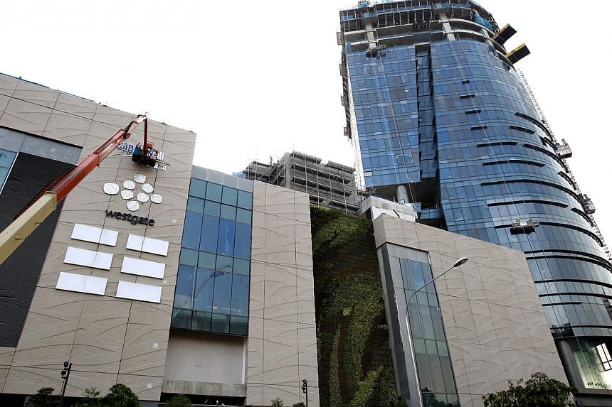A consortium including construction group Low Keng Huat has been granted options to purchase Westgate Tower for $579.4 million from CapitaLand, CapitaMall Trust and CapitaMalls Asia. -- FILE PHOTO: THE BUSINESS TIMES