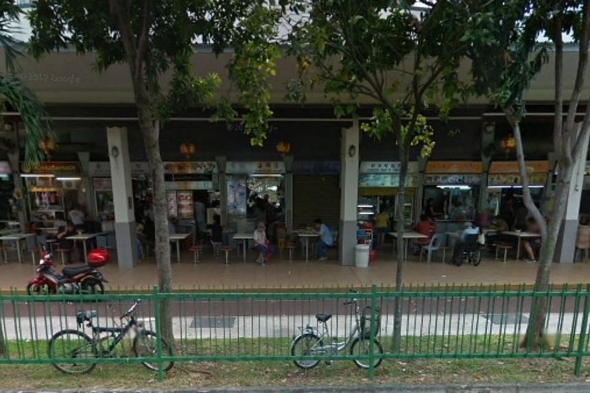 The National Environment Agency has called for proposals to manage four existing hawker centres, including the centre at Block 117 Aljunied Ave 2 (above) on a not-for-profit basis. -- PHOTO: GOOGLE MAPS