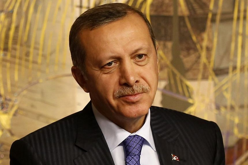 Turkey's Prime Minister Tayyip Erdogan is seen during a joint news conference with his Libyan counterpart Ali Zeidan (not pictured) in Istanbul, on Jan 3, 2014. Turkish Prime Minister Recep Tayyip Erdogan, whose Islamist-leaning government is en