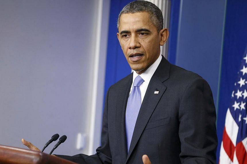 U.S. President Barack Obama addresses his year-end news conference in the White House briefing room in Washington, on Dec 20, 2013.The Obama administration on Friday announced it was taking two new executive actions on gun control, proposing a