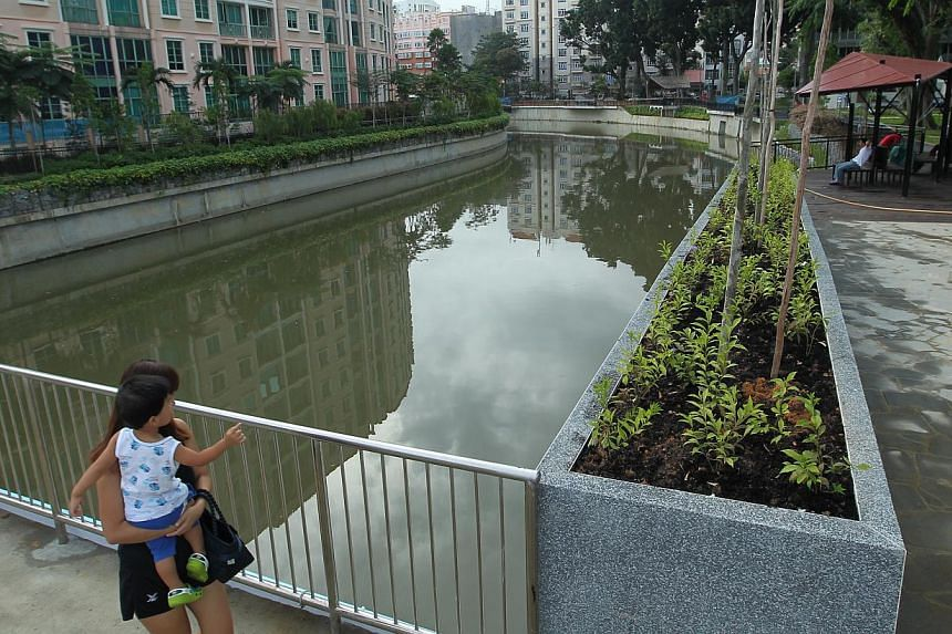 The Geylang River is the latest of 23 projects to have been completed under the PUB's ABC Waters programme. The $37.8 million makeover included widening and deepening the stretch of river from Dunman Road to Guillemard Road. -- ST PHOTO: SEAH KWANG P