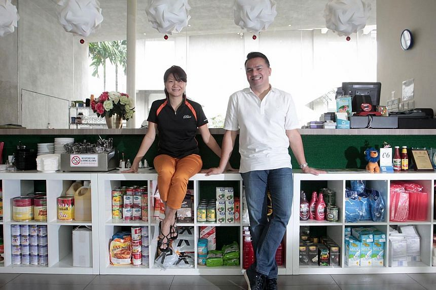Bliss Restaurant and Catering founder Christine Low (left) will be mentored by Mr Suhaimi Rafdi, who is chief executive of Cathay Organisation.