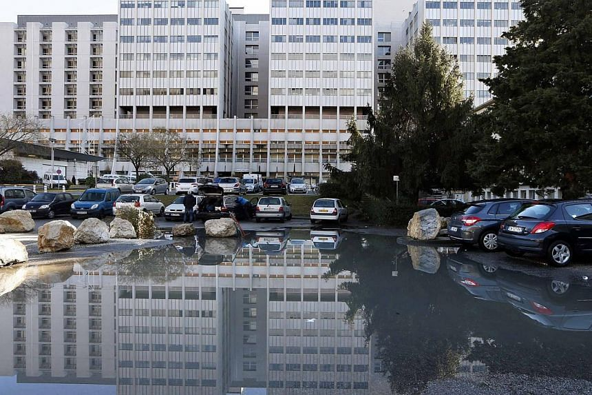 """General view of the CHU hospital emergency unit in Grenoble, French Alps, on Jan 5, 2014 where seven-time former Formula One world champion Michael Schumacher is hospitalised. Michael Schumacher's condition is """"stable"""" but still critical. -- PHOTO: R"""