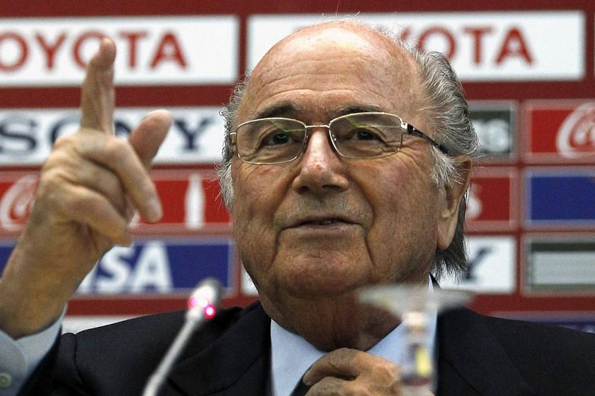 FIFA President Sepp Blatter speaks during a news conference at the Club World Cup soccer tournament in Marrakech on Dec 19, 2013. Brazil's continuing struggles to keep their World Cup organisation on schedule are a consequence of starting preparation