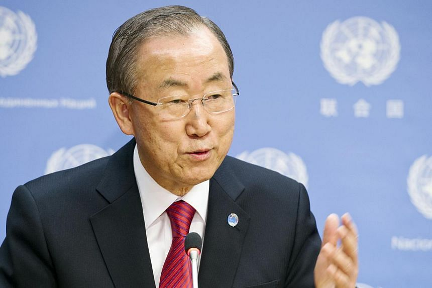 UN leader Ban Ki Moon on Monday, Jan 6, 2014, sent invitations to 30 countries to attend a Syria peace conference this month, but did not include Iran, a spokesman said. -- FILE PHOTO: AFP