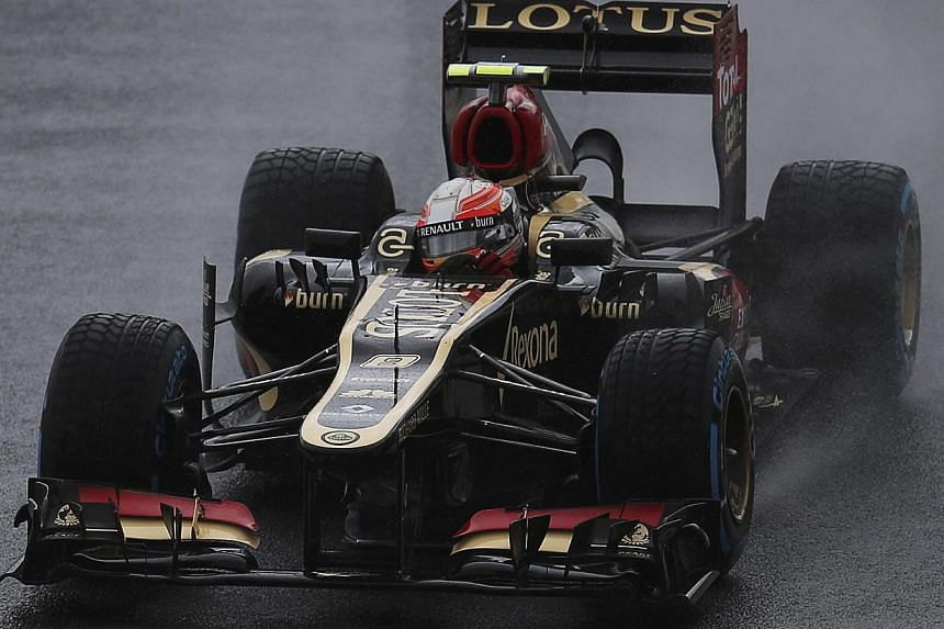 Lotus Formula One driver Romain Grosjean of France drives during the third practice session of the Brazilian F1 Grand Prix at the Interlagos circuit in Sao Paulo, on Nov 23, 2013.  Lotus have decided to skip Formula One's first pre-season test i