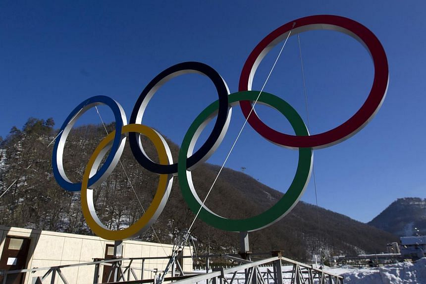 A view of Olympic rings near the resort of Krasnaya Polyana, near Sochi on Jan 4, 2014. Russia launches the largest security operation in Olympic history on Tuesday with one month to go before President Vladimir Putin kicks off the Winter Games in So