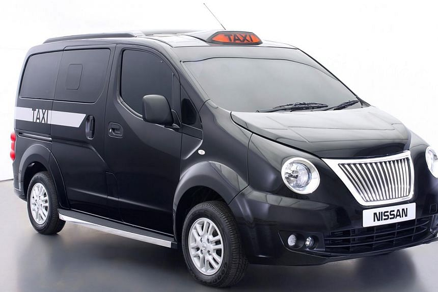 This handout image obtained from Nissan GB on Jan 6, 2014 shows Nissans new interpretation of the London Taxi.Nissan Motor Co unveiled its new Taxi for London on Monday, having adapted an existing van to look more like the city's traditional bl