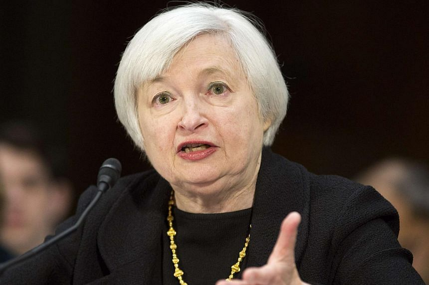 Then United States (US) Federal Reserve vice-chair Janet Yellen testifies during a Senate Banking Committee confirmation hearing on her nomination to be the next chairman of the US Federal Reserve, on Capitol Hill in Washington, on Nov 14, 2013.&nbsp